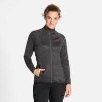 Pull technique à zip intégral CORVIGLIA KINSHIP EM pour femme, grey melange, large
