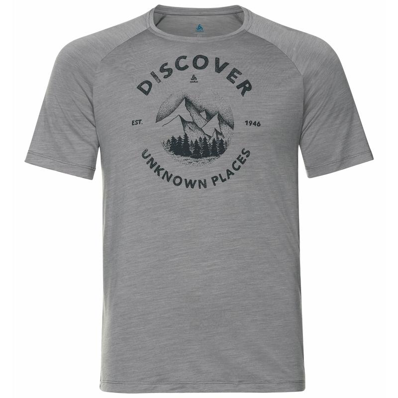 T-shirt CONCORD pour homme, grey melange - discover print SS20, large