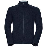 Midlayer full zip Sherpa Jacket, black melange, large