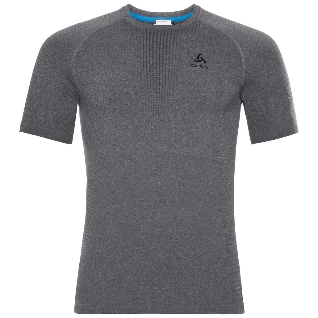 Herren PERFORMANCE WARM Funktionsunterwäsche T-Shirt, grey melange - black, large
