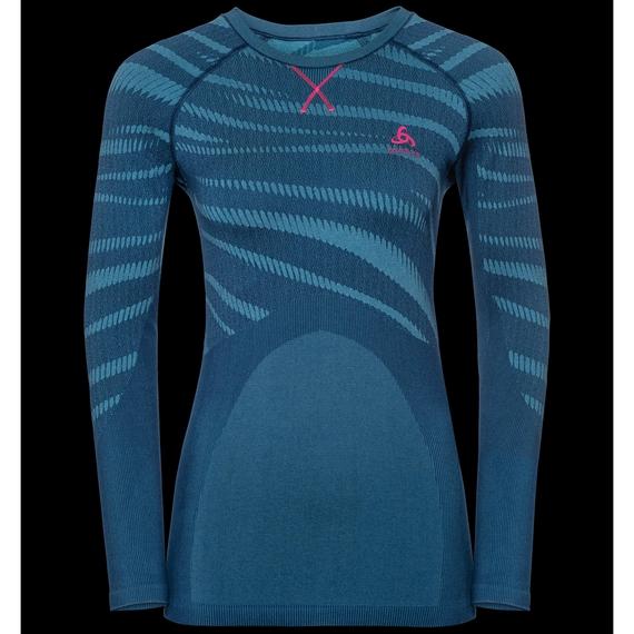 Sous-vêtement technique T-shirt manches longues BLACKCOMB pour femme, poseidon - turkish tile - diva pink, large