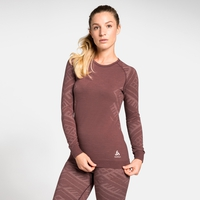 Damen NATURAL + KINSHIP WARM Funktionsunterwäsche Langarm-Shirt, roan rouge melange, large