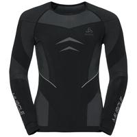 Evolution Warm Muscle Force baselayer shirt men, black - platinum grey, large