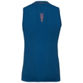 Ceramicool seamless baselayer singlet men, blue opal - orangeade, large