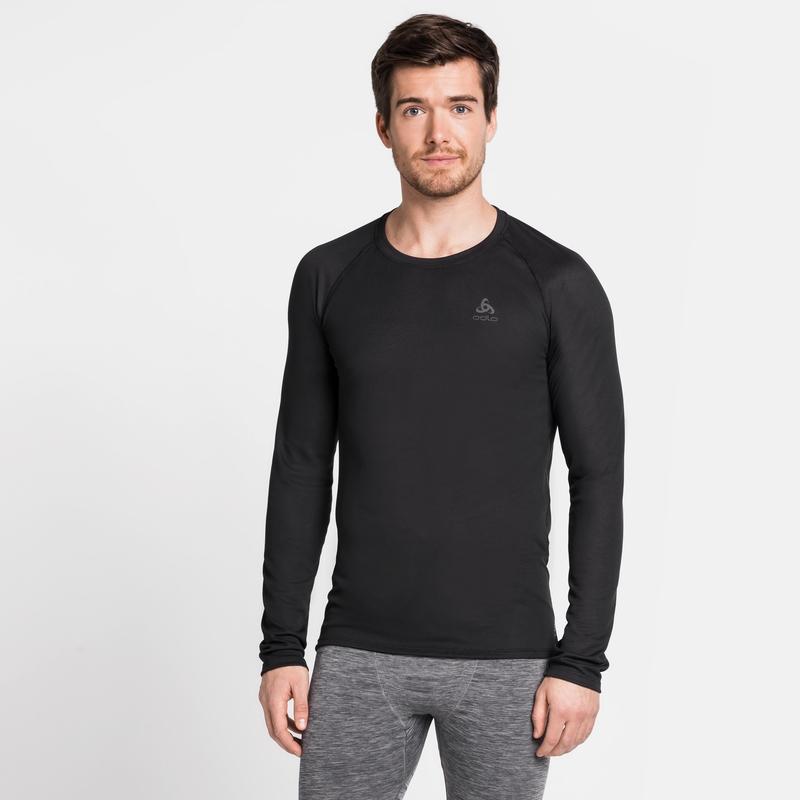 Herren ACTIVE F-DRY LIGHT Base Layer Langarm-Shirt, black, large