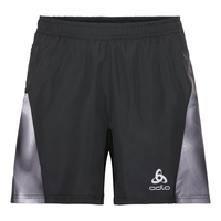 Shorts with inner brief OMNIUS Light, black - odlo concrete grey - black- AOP FW18, large