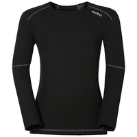 ACTIVE X-WARM KIDS Long-Sleeve Base Layer Top, black, large