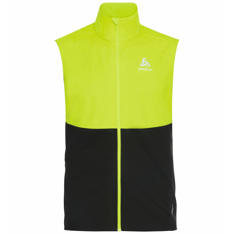 The Zeroweight Warm vest, evening primrose - black, large