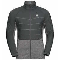 Men's MILLENNIUM S-THERMIC Running Jacket, odlo graphite grey, large