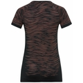 Damen BLACKCOMB CERAMICOOL Laufshirt, black - space dye, large