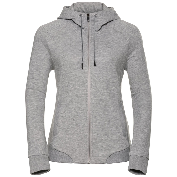 Sweat à capuche couche intermédiaire zippé CORE, grey melange, large