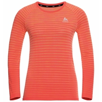 Top a manica lunga Blackcomb Pro da donna, hot coral - space dye, large