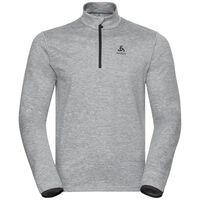 Midlayer 1/2 zip ALAGNA, grey melange, large
