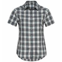 Damen MYTHEN Kurzarm-Bluse, odlo silver grey - grey melange, large
