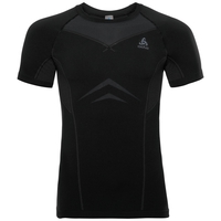 SUW Top Crew neck s/s PERFORMANCE Light, black - odlo graphite grey, large