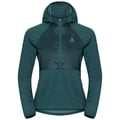 Women's MILLENNIUM LINENCOOL PRO Jacket, atlantic deep melange, large