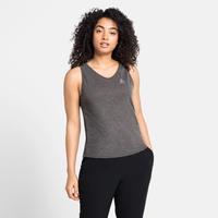 Women's HALDEN LINENCOOL Singlet, dark grey melange, large