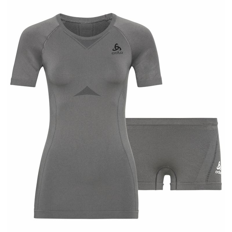 Damen PERFORMANCE EVOLUTION Base Layer Set, odlo steel grey - odlo graphite grey, large