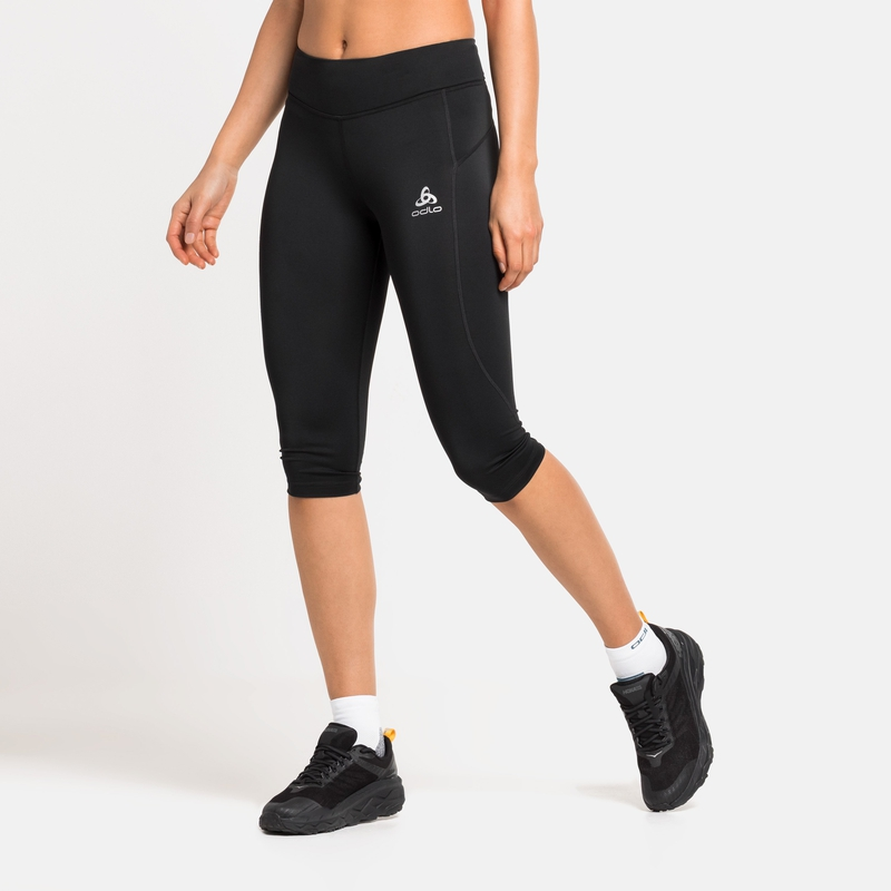 Damen ESSENTIALS SOFT 3/4-Tights, black, large