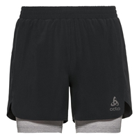 Men's MILLENNIUM PRO 2-in-1 Shorts, black - grey melange, large