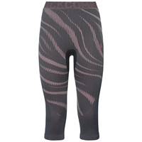 Damen BLACKCOMB Funktionsunterwäsche 3/4 Hose, odyssey gray - mesa rose, large