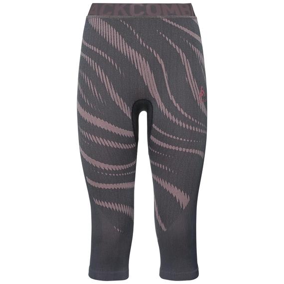 Sous-vêtement technique Collant ¾ BLACKCOMB pour femme, odyssey gray - mesa rose, large