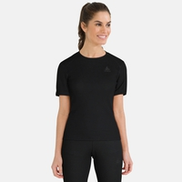 Women's ACTIVE WARM Base Layer T-Shirt, black, large