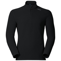 Men's LE TOUR 1/2 Zip Midlayer, black, large