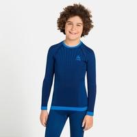 T-shirt à manches longues PERFORMANCE WARM KIDS pour enfant, estate blue - directoire blue, large