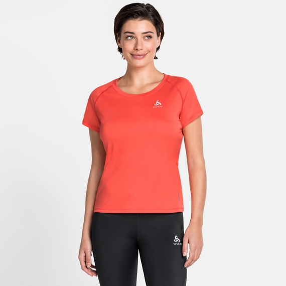 Women's CERAMICOOL ELEMENT T-Shirt, hot coral, large