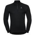 Herren ACTIVE WARM Funktionsunterwäsche Langarm-Shirt mit 1/2 Reißverschluss, black, large