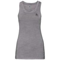 Women's NATURAL + LIGHT Base Layer Singlet, grey melange, large