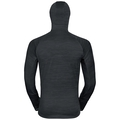 Herren STEAM Midlayer Hoody, black melange, large