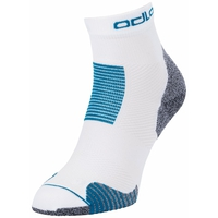 CERAMICOOL STABILIZER Quarter Socks, white - mykonos blue, large
