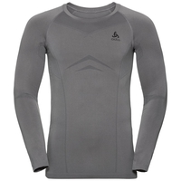 Men's PERFORMANCE EVOLUTION WARM Long-Sleeve Baselayer Top, odlo steel grey - odlo graphite grey, large