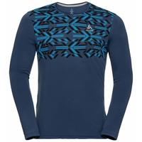 Men's NILLIAN Long-sleeve shirt, estate blue - graphic FW20, large