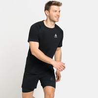 T-shirt da corsa ESSENTIAL da uomo, black, large