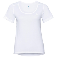 SUW TOP Crew neck s/s ACTIVE Cubic LIGHT, white - snow white, large
