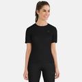 Women's ACTIVE WARM Base Layer T-Shirt, black, large
