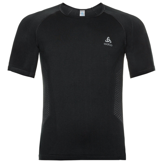Men's PERFORMANCE ESSENTIALS WARM Base Layer T-Shirt, black - odlo graphite grey, large