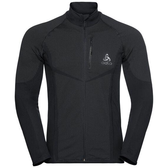 Jacket VELOCITY Light, black - odlo concrete grey, large
