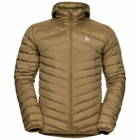 Men's HOODY COCOON N-THERMIC WARM Insulated Jacket, dull gold melange, large