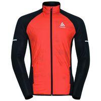 Jacket hybrid seamless IRBIS, orangeade - black, large