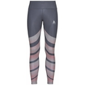 Women's ZEROWEIGHT Running Tights, odyssey gray - placed print SS20, large