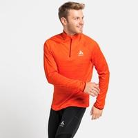 Pull à manches longues et col zippé MILLENIUM ELEMENT pour homme, orange.com melange, large