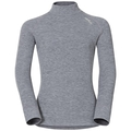 ACTIVE WARM KIDS Long-Sleeve Turtle-Neck Base Layer Top, grey melange, large