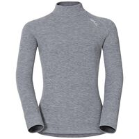 SUW Top Originals Active Warm KIDS langärmeliges Oberteil mit Rollkragen, grey melange, large