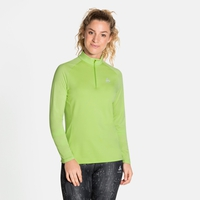 Midlayer a manica lunga con mezza zip CERAMIWARM ELEMENT da donna, tomatillo, large