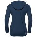 Damen Pure Wool Midlayer Hoody, blue wing teal, large