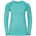 Women's ESSENTIAL SEAMLESS Long-Sleeve Running T-Shirt, jaded melange, large